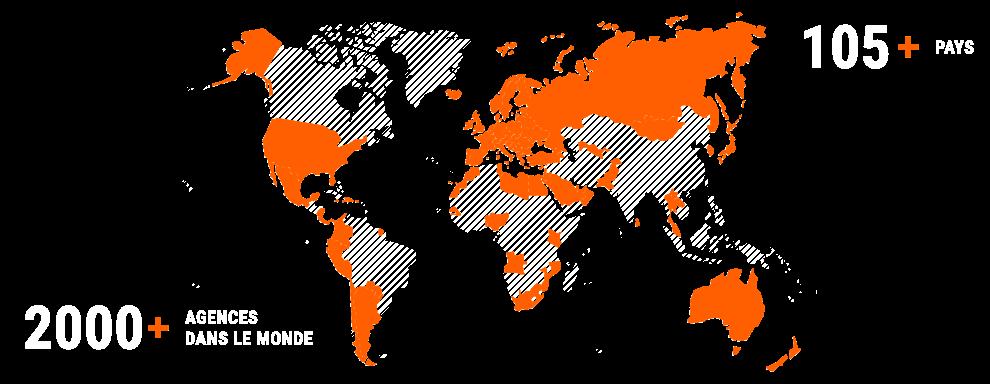 Les agences SIXT dans le monde